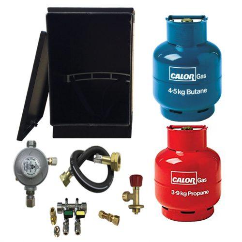 Gaslow LPG gas locker kit for 3.9kg & 4.5kg gas cylinders