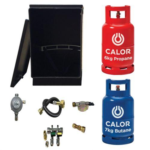 Gaslow LPG gas locker kit for 6kg & 7kg gas cylinders