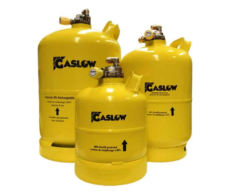 Gaslow Refillable LPG Cylinders with multivalve for motorhomes