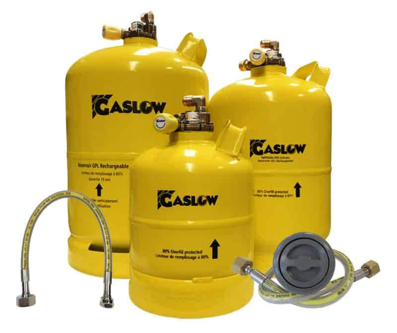 Gaslow Refillable LPG Cylinder kits with multivalve for motorhomes